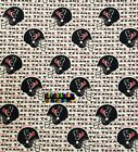 NFL HOUSTON TEXANS Cotton Fabric - 1/2 Yard to 1 YARD - OOP $27.95 USD on eBay