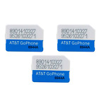 Lot of AT T Go Phone Nano SIM Card GSM 4G LTE 4FF - NEW - Never Activated