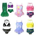 Girls Swimwear Swimsuit Mermaid Tail Bathing Suit Beachwear Tops Bottoms Skirt