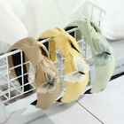 Sweet Women's Hairband Middle Knotted Headband Girls Hair Hoop Hair Accessories