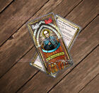 Saint St Maximilian Kolbe stained glass laminated Prayer card. Patron of addicts
