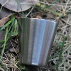 10pcs Stainless Steel Travel Camping Whisky Flask Wine Wine Glass 35ml 1oz S6e0