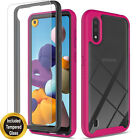 For Samsung Galaxy A01 A11 A21 Case, Shockproof Cover+ Tempered Glass Protector