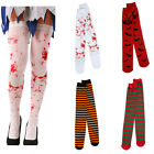 Women Thigh High Stockings Colors Rave Halloween Witch Costume Christmas Socks