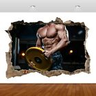 Gym Life Fitness Abs Body Builder 3D Mural Decal Wall Sticker Poster...