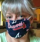 ATLANTA BRAVES FACE MASK HOMEMADE 100% COTTON TWO LAYER NOSE CLIP FREE SHIP on Ebay