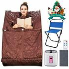 2L Portable Steam Sauna Folding Home SPA Loss Weight Detox Therapy Tent Best~
