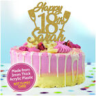 18th Birthday Cake Toppers for Girls PERSONALISED 21st Champagne Cake Decoration