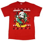 Disney Mickey Mouse Ugly Sweater Christmas Wreath Men's T-Shirt