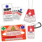 Face Mask Exempt Card Necklace Sticker Sets Covering Exemption Hidden Disability
