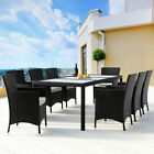 Harrier Rattan Garden Dining Table & Chair Set [6/8 Seater] | Patio Furniture