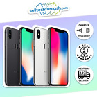 Apple Iphone X (10) A1901 64gb & 256gb Unlocked Smartphone In Space Grey/silver