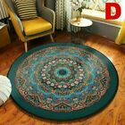 Wool Round Small Area Rug Traditional Throw Runner Soft Mat Washable NonSlip Rug