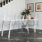 Dining Room Ghost Chairs Clear Office Kitchen Lounge Chair Victorian Style