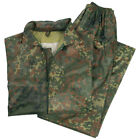 WATERPROOF RAIN SUIT RAINPROOF HOODED COMBAT FISHING SET FLECKTARN CAMO S-XXL