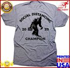 Daft Threads Big Foot Social Distancing Champion Funny Quarantine TShirt