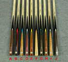 """Grand-Cues"" 50"" kid Cues 1 Piece Ash Shaft Black Ebony Handmade Snooker Cue#D03"