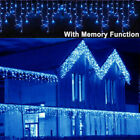 13~130ft Curtain Icicle Lights Wedding Party LED Fairy Christmas Indoor Outdoor