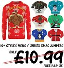 MENS CHRISTMAS JUMPERS UNISEX XMAS NOVELTY SWEATER TOPS REINDEER ELF S-3XL BNWT