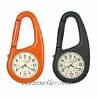 Men Women Clip-on Quartz Watch Glow in The Dark Outdoor Backpack Fob Belt Watch