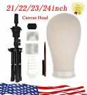 22''-23'' Cork Canvas Block Wig Making Mannequin Head & Tripod Stand Kit Clamp
