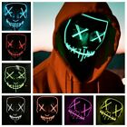 Halloween Mask LED Incandescente Maschera Party Carnival Cosplay Dress Up