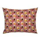 Funny Fall Drinking Beer Octoberfest Bratz Hops Pillow Sham by Roostery