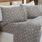 4 Piece Extra Soft Lodge Printed 100% Turkish Cotton Flannel Sheet Set. Warm, Co