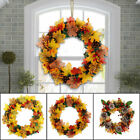 Halloween Decor Fall Door Pumpkin Wreath Autumn Color Maple Leaf Garland Xmas UK