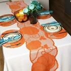 1Set Thanksgiving Lace Fireplace Cloth Table Runner Cloth Pumpkin Home Decor