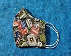 Washable Handmade Fabric Face Mask filter pocket US UNITED STATES ARMY DOG TAGS