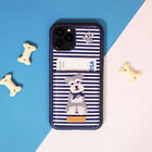 DESIGNSKIN Embroidery Card Pocket Case for iPhone & Galaxy Stripe-Schnauzer