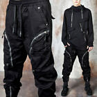 NewStylish Curved zipper banded pants