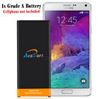 AceSoft 7220mAh Extended Slim Extra Battery for Samsung Galaxy Note 4 IV SM-N910