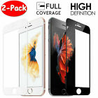 For iPhone SE 8 7 6S 6 Plus New FULL COVER Tempered Glass Screen Protector