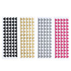 65pcs Removable Heart Wall Stickers Vinyl Stickers Home Room Decor @t