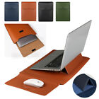 """PU Leather Laptop Sleeve Bag Pouch Stand Bracket Notebook Case Cover 13"""" 14"""" 15"""""""