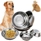Pet Dog Puppy Cat Feeder Stainless Steel Bowls Food Or Drink Water Bowl Dish