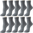J-BOX 5 Pairs Womens Socks Dress Thin Cotton Casual Crew Sock Black High Ankle S