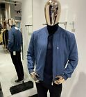 Brunello Cucinelli suede blue Jacket size 50 56 100 Authentic New