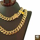 11mm Mens Miami Cuban Royal Link Chain Necklace Real 10K Yellow Gold Box Clasp