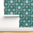 Removable Water-Activated Wallpaper Arabesque Arab Turkish Damask Floral Antique