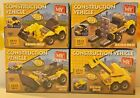 (RO) Construction Vehicle Brick Kits Toys 2 in 1 Various Diggers, Forklift
