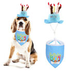 Pet Bibs Saliva Towel Cat Dog Birthday Hat Party Decor Costume Clothes Accessory