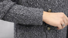 Men's Knitted Cashmere Cardigan Button Front Korean Knitting Outwear Sweater Top