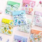 45PCS/box Kawaii Diary Flower Decor Stickers Scrapbooking Stationery Supply Gift