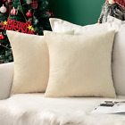 MIULEE Pack of 2 Chenille Throw Pillow Covers Christmas Decorative Pillowcase So