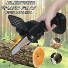 550W Cordless Electric Handheld Chain Saw Wood Cutting Woodworking Rechargeable
