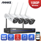 ANNKE Wireless WLAN 5MP 8CH NVR 1080P CCTV IP Camera Audio Security System IP67