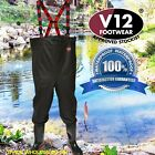 V12 River Chest Waders Safety Steel Toecap. Fishing-Industrial flood-work-River